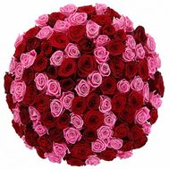 101 red and pink roses - flowers and bouquets on vambuket.com