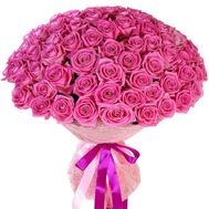 101 pink roses - flowers and bouquets on vambuket.com