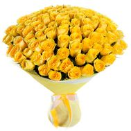 101 yellow rose - flowers and bouquets on vambuket.com