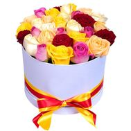 31 multi-colored rose in a box - flowers and bouquets on vambuket.com