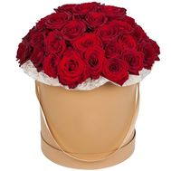 Large box of red roses - flowers and bouquets on vambuket.com