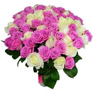 Delicate bouquet of 101 roses - flowers and bouquets on vambuket.com