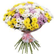 Красивый букет разноцветных хризантем - цветы и букеты на vambuket.com