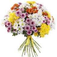 Mixed bouquet of chrysanthemums - flowers and bouquets on vambuket.com