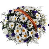 Basket of flowers from 13 chrysanthemums - flowers and bouquets on vambuket.com