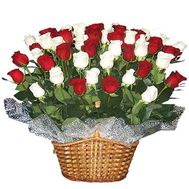 Basket of flowers from 45 imported roses - flowers and bouquets on vambuket.com