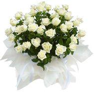 Корзина квітів з 51 білої троянди - цветы и букеты на vambuket.com