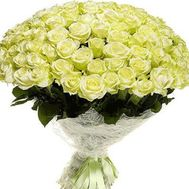 Bouquet of 101 white roses - flowers and bouquets on vambuket.com