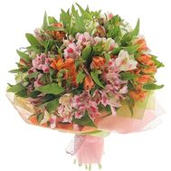 Bouquet of 21 multicolored alstroemerias - flowers and bouquets on vambuket.com