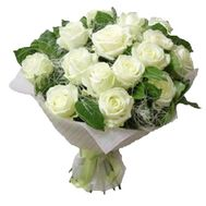 Bouquet of 17 white roses - flowers and bouquets on vambuket.com