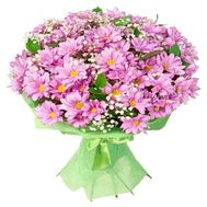Bouquet of 15 pink chrysanthemums - flowers and bouquets on vambuket.com