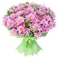 Букет із 15 рожевих хризантем - цветы и букеты на vambuket.com