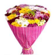 Букет из 35 хризантем - цветы и букеты на vambuket.com