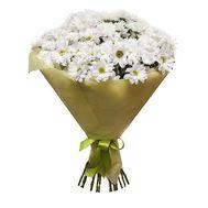 Букет із 15 білих хризантем - цветы и букеты на vambuket.com