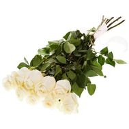 Bouquet of 9 white roses - flowers and bouquets on vambuket.com