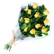 Bouquet of 13 yellow roses - flowers and bouquets on vambuket.com