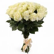 Bouquet of 19 white roses - flowers and bouquets on vambuket.com