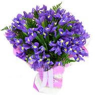 Bouquet of flowers from 35 irises - flowers and bouquets on vambuket.com