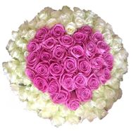 Heart of 101 roses - flowers and bouquets on vambuket.com
