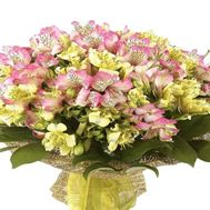Bouquet of 41 multi-colored alstroemerias - flowers and bouquets on vambuket.com