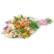 Bouquet of 17 multicolored alstromeries - flowers and bouquets on vambuket.com