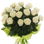 Букет из 23 белых роз - цветы и букеты на vambuket.com