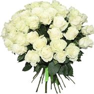 Bouquet of 55 white roses - flowers and bouquets on vambuket.com