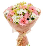 Bouquet of 7 gerberas, 8 chrysanthemums and 4 alstroemerias - flowers and bouquets on vambuket.com