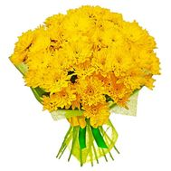Bouquet of 11 yellow chrysanthemums - flowers and bouquets on vambuket.com