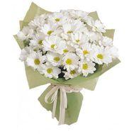 Букет из 7 белых хризантем - цветы и букеты на vambuket.com