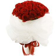 Bouquet of 25 red roses flowers - flowers and bouquets on vambuket.com