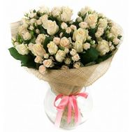 Bouquet of 10 bush roses and 9 roses - flowers and bouquets on vambuket.com
