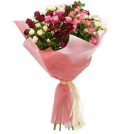 Bouquet of 9 bush roses - flowers and bouquets on vambuket.com