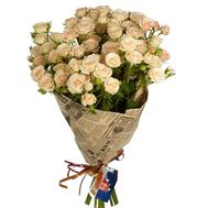 Bouquet of 11 bush roses - flowers and bouquets on vambuket.com