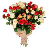 Bouquet of 15 bush roses - flowers and bouquets on vambuket.com