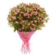 Bouquet of 25 bush roses - flowers and bouquets on vambuket.com