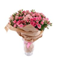 Bouquet of 35 bush roses - flowers and bouquets on vambuket.com
