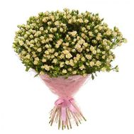 Bouquet of 51 bush roses - flowers and bouquets on vambuket.com