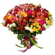 Bouquet of 101 bush roses - flowers and bouquets on vambuket.com