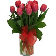 Bouquet of 11 red tulips - flowers and bouquets on vambuket.com