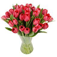 Букет цветов из 31 красного тюльпана - цветы и букеты на vambuket.com