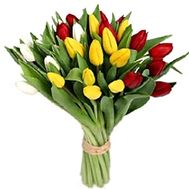 Bouquet of flowers from 29 tulips - flowers and bouquets on vambuket.com