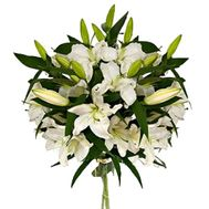 Bouquet of flowers from 3 white lilies - flowers and bouquets on vambuket.com