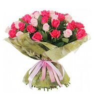 Bouquet of 51 multi-colored roses - flowers and bouquets on vambuket.com