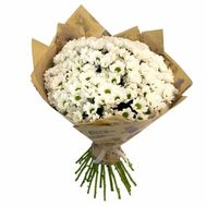 Bouquet of flowers from 35 chamomile chrysanthemums - flowers and bouquets on vambuket.com