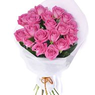 Bouquet of 19 pink roses - flowers and bouquets on vambuket.com