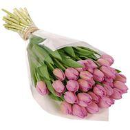 Букет цветов из 35 розовых тюльпанов - цветы и букеты на vambuket.com