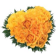17 yellow roses - flowers and bouquets on vambuket.com