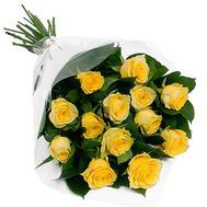 Bouquet of 11 yellow roses - flowers and bouquets on vambuket.com