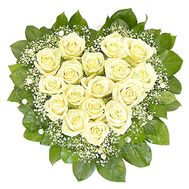 17 white roses - flowers and bouquets on vambuket.com